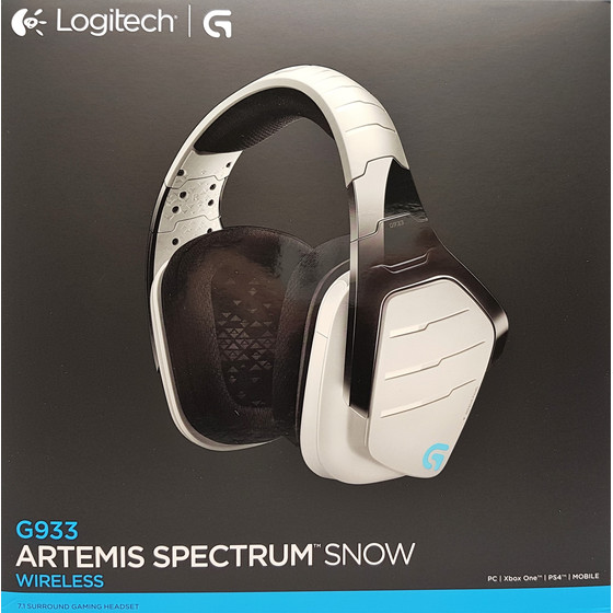 Logitech G933 Atremis Spectrum Snow 7.1 Wireless Gaming Headset weiß