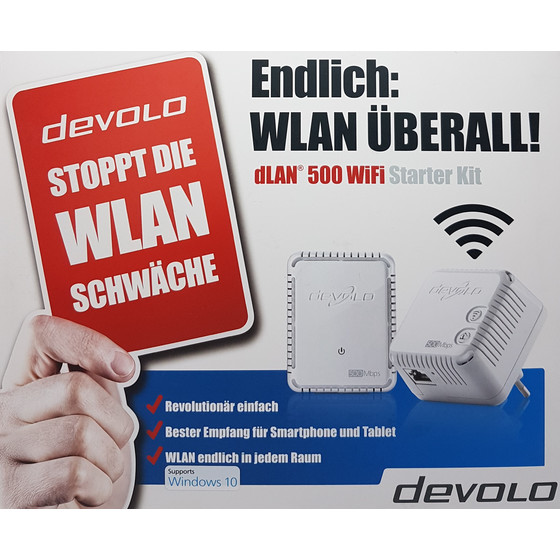 Devolo dLAN 500 WiFi Powerline Starter Kit 2 Adapter