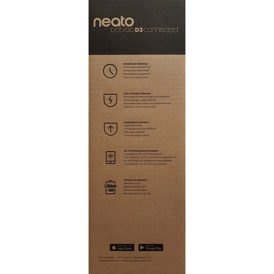 Neato 945-0274 Botvac D3 Connected (D304) Staubsaugerroboter, WLAN, Graphit Grau