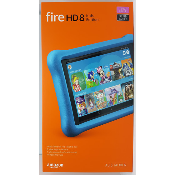 Amazon Fire HD 8 Kids Edition-Tablet, 20,32 cm (8 Zoll) Display, pinke kindgerechte Hülle