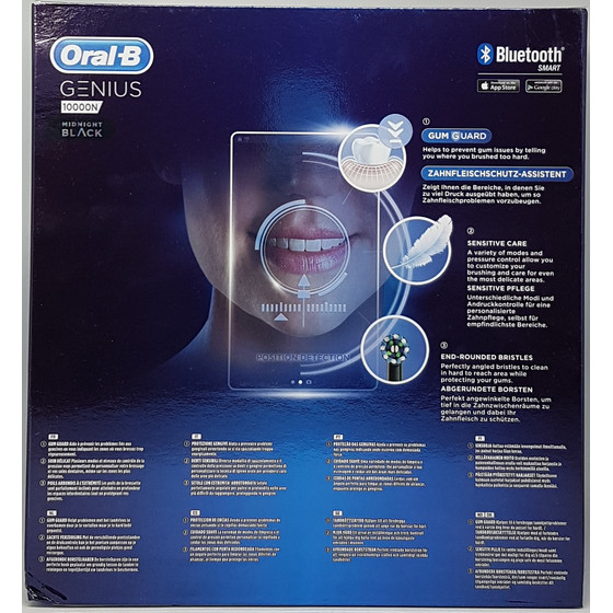 Oral-B Genius 10000N Black Edition Elektrische Zahnbürste, Midnight Black