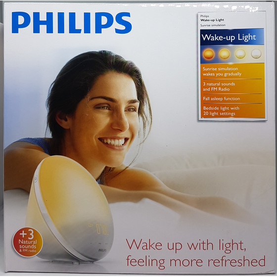 Philips HF3510/01 Wake-up Light, Lichtwecker, Weiß