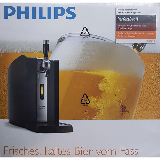 Philips HD3720/25 Perfect Draft Bierkühler, Bierzapfsystem, schwarz
