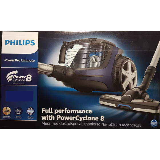 Philips FC9929/09 PowerPro Ultimate beutelloser Staubsauger, blau
