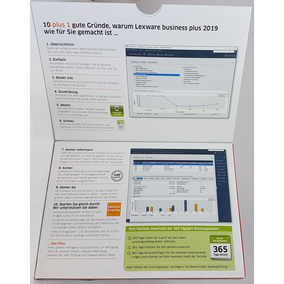 Lexware business plus 2019 Minibox Jahreslizenz CD-Version