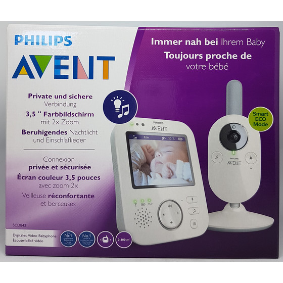 Philips AVENT SCD843/26 Video Babyphone, grau