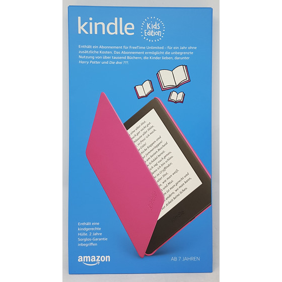 Amazon Kindle Kids Edition 15,24 cm (6 Zoll) 8 GB, pinke kindgerechte Hülle