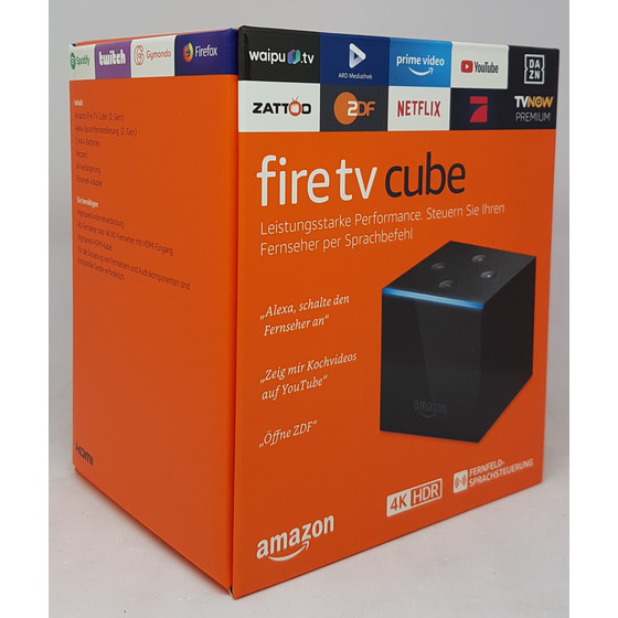 Amazon Fire TV Cube 4K Ultra HD-Streaming-Mediaplayer Hands-free mit Alexa