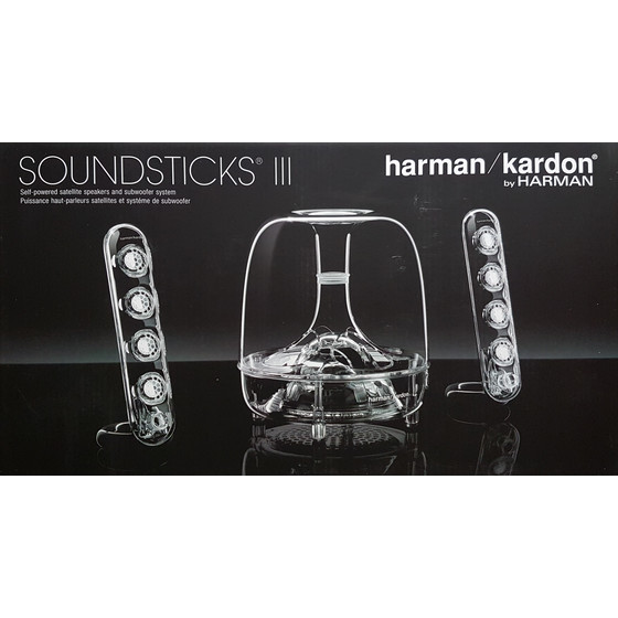 Harman Kardon Soundsticks III 2.1 Soundsystem Lautsprecher Subwoofer, transparent