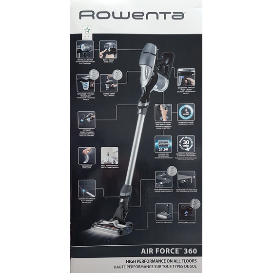 Rowenta RH9086 Air Force 360 Akku Handstaubsauger, grau