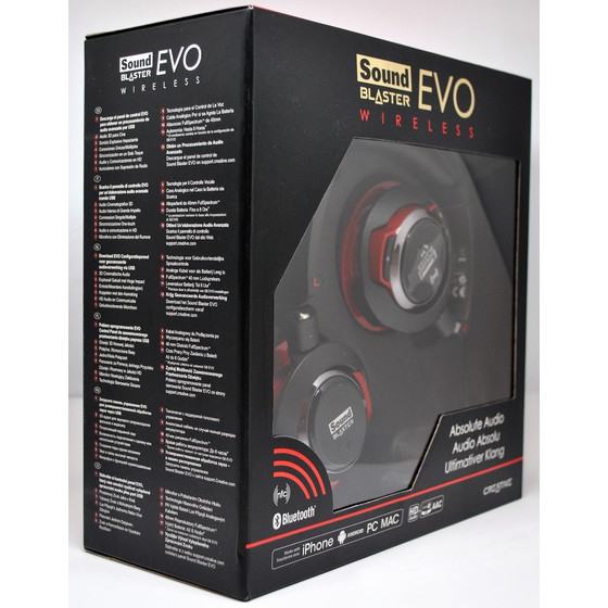 Creative Sound Blaster EVO Wireless Headset, Bluetooth, NFC, USB