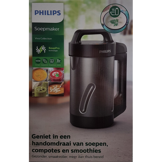 Philips HR2204/80 Viva Collection SoupMaker, Schwarz/Grau