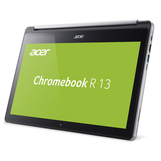 Acer Chromebook R 13 CB5-312T-K0YK 33,78 cm (13,3 Zoll) Full-HD IPS Multi-Touch, 360° Convertible, 32 GB eMMC, 4 GB RAM, 15mm flach, Google Chrome OS, Silber
