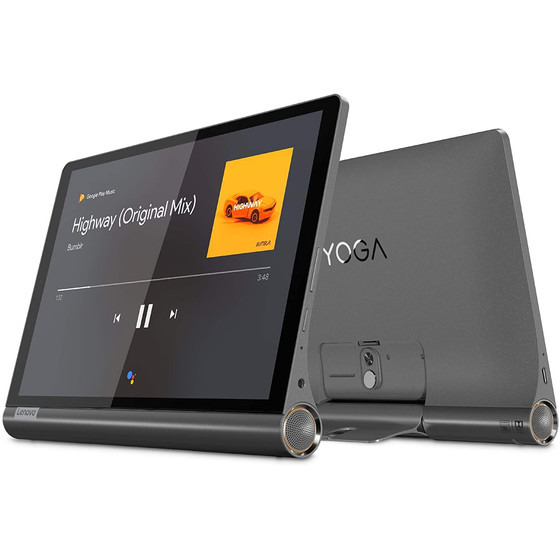 Lenovo Yoga Smart Tab YT-X705L Tablet-PC 25,65 cm (10,1 Zoll) 1920x1200p IPS, Touch, Octa-Core, 3 GB RAM, 32 GB eMMC, Wi-Fi, LTE, Android 9, Iron Grey