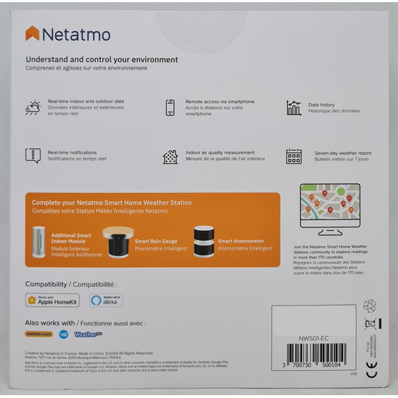 Netatmo NWS01 wasserdichte Wetterstation iPhone iPad Android