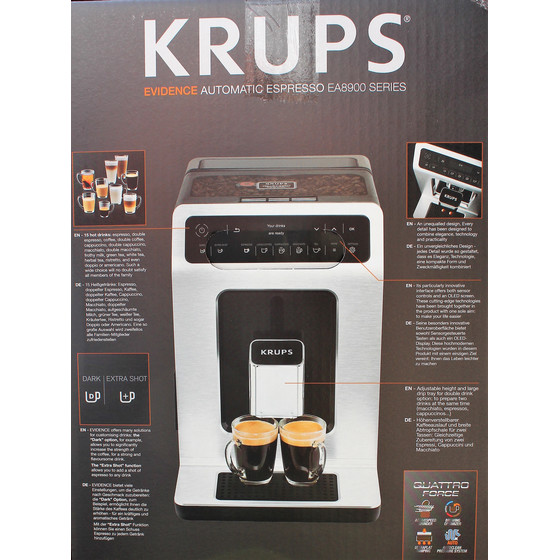 Krups Kaffeevollautomat EA891D Evidence One-Touch-Cappuccino
