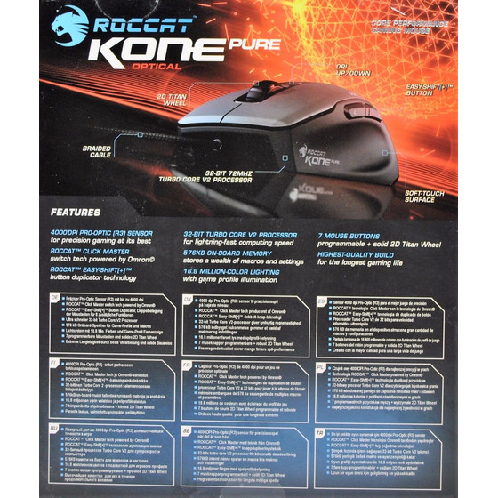 Roccat Kone Pure Optical Performance Gaming Maus, 4000 dpi